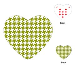 Houndstooth Green Playing Cards (Heart)