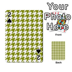 Houndstooth Green Playing Cards 54 Designs