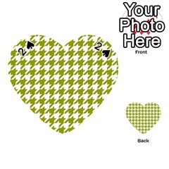 Houndstooth Green Playing Cards 54 (heart)