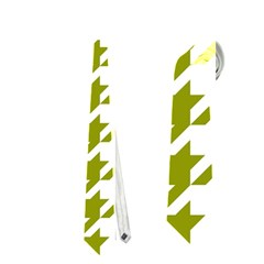 Houndstooth Green Neckties (two Side)