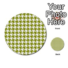 Houndstooth Green Multi-purpose Cards (Round)