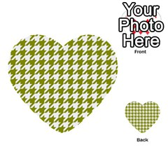 Houndstooth Green Multi Purpose Cards (heart)