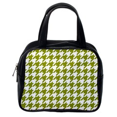 Houndstooth Green Classic Handbags (One Side)