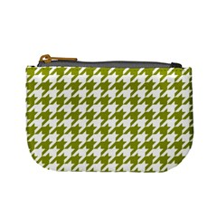 Houndstooth Green Mini Coin Purses