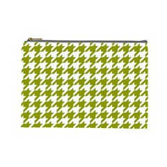 Houndstooth Green Cosmetic Bag (Large)