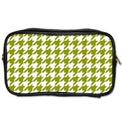 Houndstooth Green Toiletries Bags