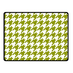 Houndstooth Green Fleece Blanket (Small)