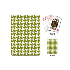 Houndstooth Green Playing Cards (Mini)