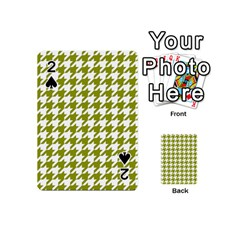 Houndstooth Green Playing Cards 54 (Mini)