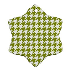 Houndstooth Green Snowflake Ornament (2-Side)
