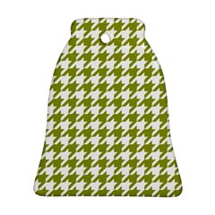 Houndstooth Green Bell Ornament (2 Sides)