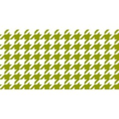 Houndstooth Green You Are Invited 3d Greeting Card (8x4)
