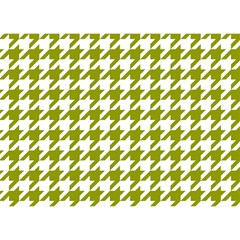 Houndstooth Green Birthday Cake 3d Greeting Card (7x5)