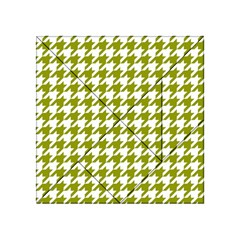 Houndstooth Green Acrylic Tangram Puzzle (4  x 4 )