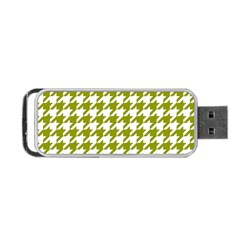 Houndstooth Green Portable USB Flash (Two Sides)