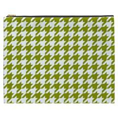 Houndstooth Green Cosmetic Bag (XXXL)