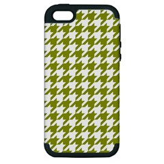 Houndstooth Green Apple iPhone 5 Hardshell Case (PC+Silicone)