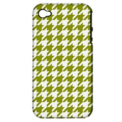 Houndstooth Green Apple iPhone 4/4S Hardshell Case (PC+Silicone)