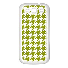 Houndstooth Green Samsung Galaxy S3 Back Case (White)