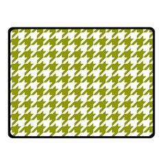 Houndstooth Green Double Sided Fleece Blanket (small)