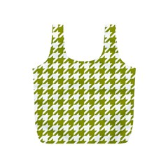 Houndstooth Green Full Print Recycle Bags (S)