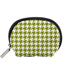 Houndstooth Green Accessory Pouches (Small)