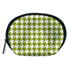 Houndstooth Green Accessory Pouches (Medium)