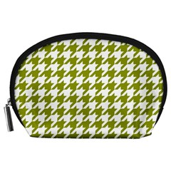 Houndstooth Green Accessory Pouches (Large)