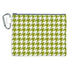 Houndstooth Green Canvas Cosmetic Bag (XXL)