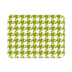 Houndstooth Green Double Sided Flano Blanket (mini)