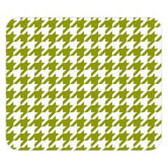 Houndstooth Green Double Sided Flano Blanket (Small)
