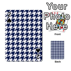Houndstooth Midnight Playing Cards 54 Designs