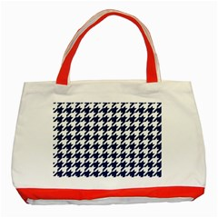 Houndstooth Midnight Classic Tote Bag (Red)