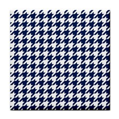 Houndstooth Midnight Face Towel