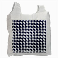 Houndstooth Midnight Recycle Bag (Two Side)