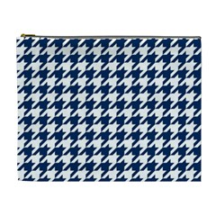 Houndstooth Midnight Cosmetic Bag (XL)