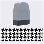 Houndstooth Midnight Name Stamps 1.4 x0.5  Stamp