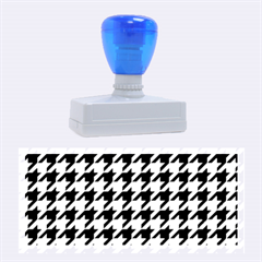 Houndstooth Midnight Rubber Stamps (Large)