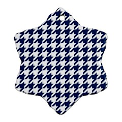 Houndstooth Midnight Snowflake Ornament (2 Side)