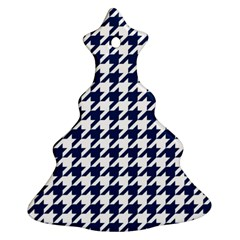 Houndstooth Midnight Christmas Tree Ornament (2 Sides)