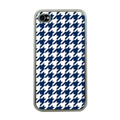 Houndstooth Midnight Apple iPhone 4 Case (Clear)