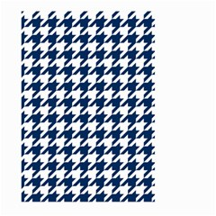 Houndstooth Midnight Large Garden Flag (two Sides)