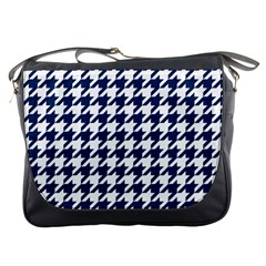 Houndstooth Midnight Messenger Bags