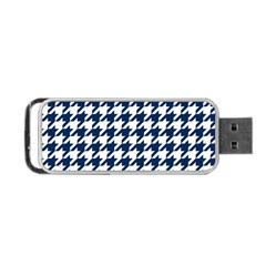 Houndstooth Midnight Portable Usb Flash (one Side)