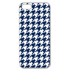 Houndstooth Midnight Apple Seamless iPhone 5 Case (Clear)