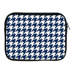 Houndstooth Midnight Apple iPad 2/3/4 Zipper Cases