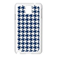 Houndstooth Midnight Samsung Galaxy Note 3 N9005 Case (White)