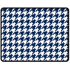 Houndstooth Midnight Double Sided Fleece Blanket (Medium)
