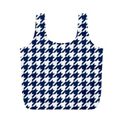 Houndstooth Midnight Full Print Recycle Bags (M)