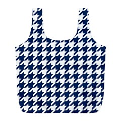 Houndstooth Midnight Full Print Recycle Bags (L)